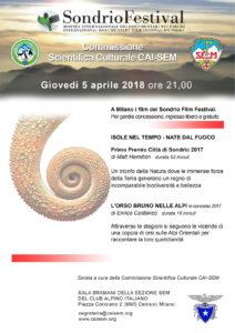 I film del Sondrio Film Festival in esclusiva a Milano