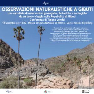 Viaggio a Gibuti: una conferenza SISN al Museo di Storia Naturale di Milano